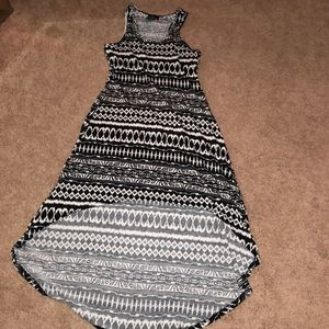 Dresses & Skirts - High-Low Black & White Tribal Dress